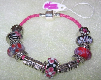 152 - CLEARANCE - Black & Red Bracelet