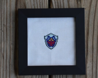 Hylian Shield Framed Cross Stitch