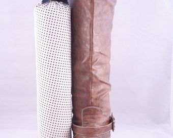 Pair of Boot Form Boot Trees - Knee High Black and White Polka Dots