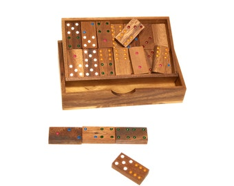 Domino, Wooden Domino Game, Woodworking, 100% Handmade