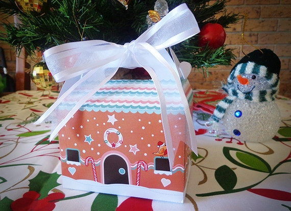 Gingerbread House Gift Box PRINTABLE - Instant Download, Print, Party ...