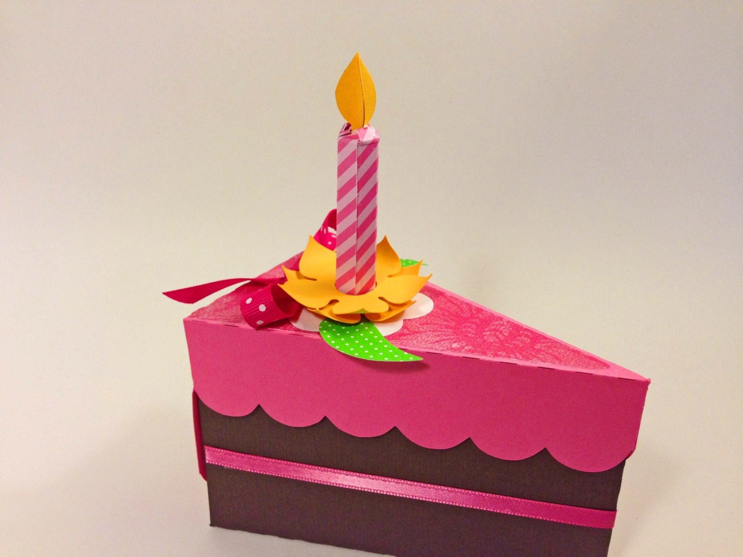Etsy Cake Favor Boxes : Paper cake favor box with candle by perfectlywrappedgift