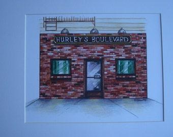 Hurley's Boulevard, by Karen Paciullo, 2014, Throggs Neck, Bronx, NY, ready to frame art print