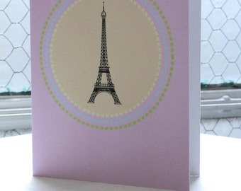 Eiffel Tower Paris Gift Card - Designed for Re-use 100% Recycled