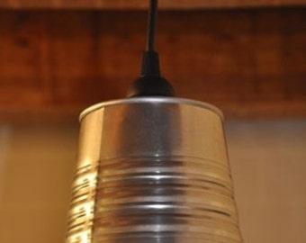NEW Industrial Look Pendant Light Fixture Lamp Galvanized Steel Handmade