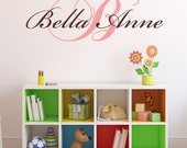50% Off SALE!!!  Use Coupon Code BELLE50  Personalized Name Initial Lettering Decal