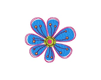 Flower (4) - Filled Embroidery Design - Instant Digital Download Embroidery File