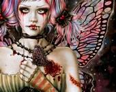 Mended Heart - Fantasy Gothic Art- 6x8