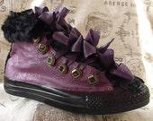 Purple Converse Sneakers