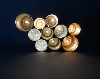 Can Light of a different kind Upcycled Light made of tin cans