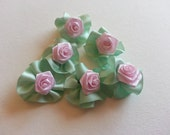 Rosette dog bows - 3 pairs 6 bows