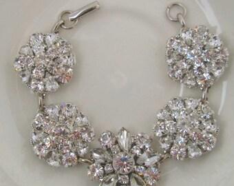 Wedding Bracelet Crystal jewelry Bridal Bracelet rhinestone Jewelry wedding Silver crystal bridal Accessories Vintage Romance