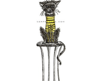 HE LOVES IT! //  Grumpy Kitty small fine art print