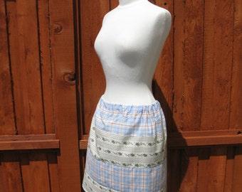OOAK Upcycled Mini Skirt