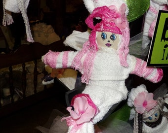 SALE - SALE Cajun Fairy. Original Sha Bebe Cloth Doll Made by Cajun Doll Artist, Mary Lynn Plaisance in  Louisiana. Art doll collectibles.