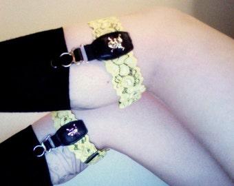 CUSTOM lace sock garters