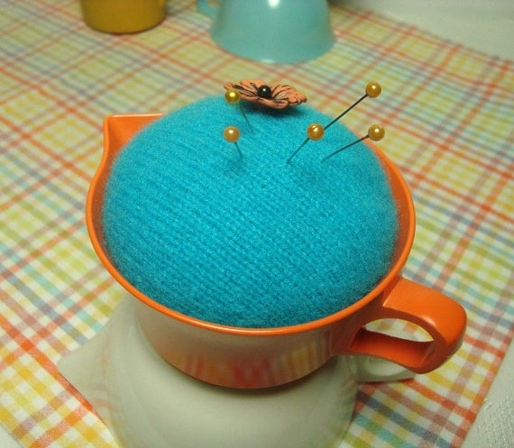Melmac Pincushion found on Etsy