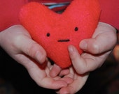 Eco Friendly Toy Plush Happy Heart Valentines Day Montessori Toddler Gift