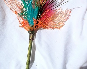 Neon Sea Fan Coral Mermaid Reversible Hair Stick