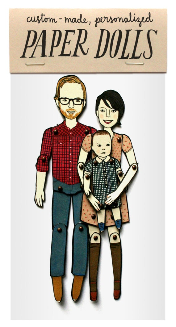 personalized paper dolls Paper doll - talented doodle artist jordan grace owens is offering families the opportunity to turn themselves into a quirky paper doll set with her hand-drawn .