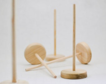 Wooden Puppet Stands for LeslieHowells Puppets