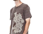 Henna T-Shirt Design American Apparel Coffee Tri-Blend t-shirt, Men's t-shirt, Unisex t-shirt, Mens graphic tee, Gift for Him