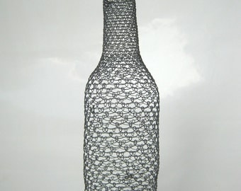 Metal Sculpture / Small Wire Bottle