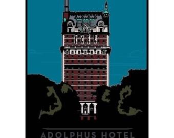 Adolphus Hotel Framed Art Print
