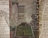 Original Miniature Art - Cellar Door - 4 x 6