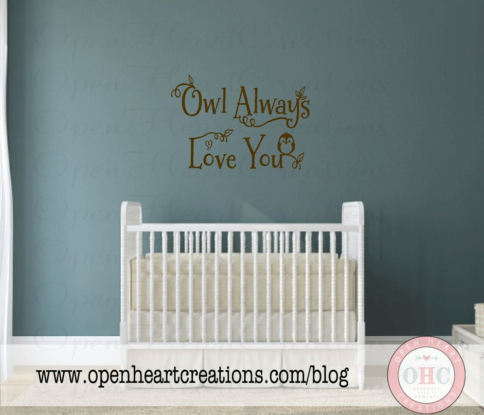 Owl Always Love You Nursery Wall Decal Baby by ...