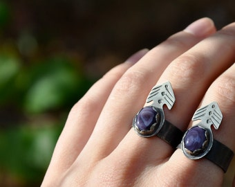 ON SALE- Wampum Arrow Vane Silver Ring