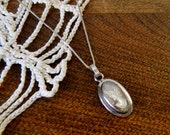 Vintage Designer Cameo Pendant in Sterling Silver by Sarah Coventry
