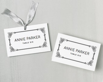 Printable Place Card Template | INSTANT DOWNLOAD | Classic Escort Card | Editable Colors | Mac or PC | Word & Pages | Flat or Folded