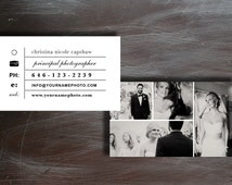 INSTANT DOWNLOAD - Photographer Business Card Template | PSD Templates - c0020