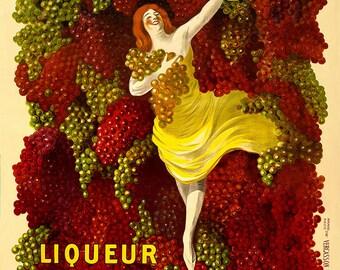 Vintage Giclee Reproduction-Italian Advertising Poster- Liquer Cordial-Médoc, G. A. Jourde - Bordeaux-9x12