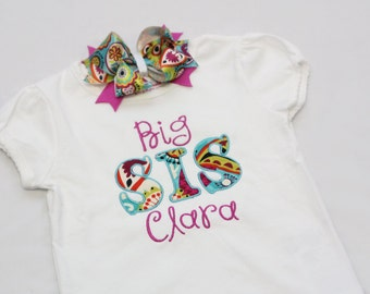 Big Sister Shirt - Personalized Big/Middle/Little Sis Shirt  and Hairbow