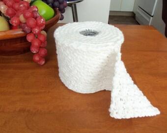 Crochet Toilet Paper  Bathroom Tissue Cover, looks like Bathroom Tissue