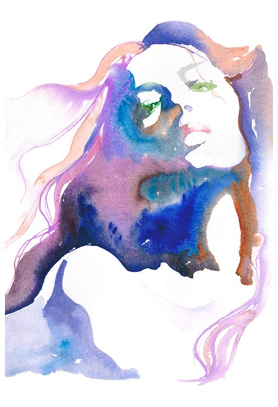 Fashion Print, Giclee Print of original watercolour painting, Fashion Illustration, Fashion art, Fashion gift, Fashion wall art,