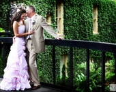 Beautiful Pink Seersucker Wedding Dress Romantic Bridal Gown