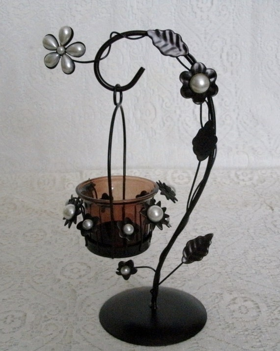 Pearl Flowers Candleholder Home Decor Victorian By