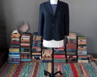Vintage black SHRUNKEN BLAZER jacket