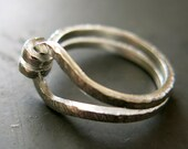 Sterling Silver Ring - Knotted Silver Ring - Unisex Ring - 925 Silver Ring - Modern Ring - Handmade Jewelry - VenexiaJewelry