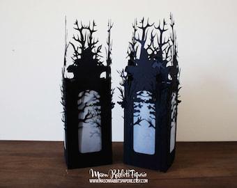 Halloween Luminaries Set of 2 Halloween Decorations - Haunted Forest Luminaries