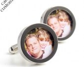 Photograph Cufflinks of Daddy and Daughter, Custom Cufflinks for Fathers and Grandfathers PC428