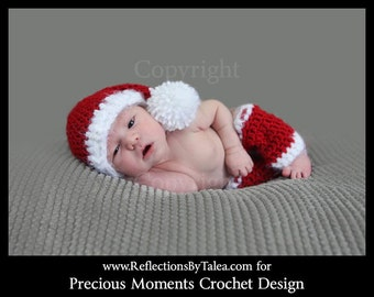 Newborn Christmas Photo Prop, Santa Elf Hat and Legwarmers, Newborn Santa Hat and Legwarmers Set, Newborn Christmas Hat  PHOTO PROP