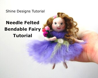 Needle Felting Tutorial . Needle Felting Pattern. Needle Felting Book PDF. Flower Fairy Doll. Needle Felting Dolls. Waldorf Fairies