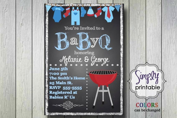 BabyQ Shower Invite