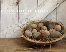 Primitive E-pattern Farmhouse Eggs Easter Instant Download PDF Pattern by Walnut Ridge Primitives