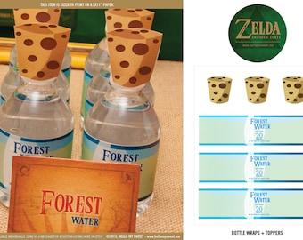 Zelda Bottle Labels - INSTANT DOWNLOAD Printable Party Decorations