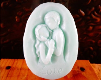 Soap: Two Lovers Soap Bar - Beautiful Couple in Love, Perfect for Engagement Party favors, Wedding favors, Bridal Shower favors & more!